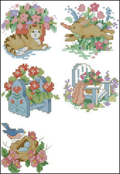 Цветы и Растения.  Поделиться. бесплатно. схема.  Описание: Схема для вышивки крестом из набора Dimensions 00212...