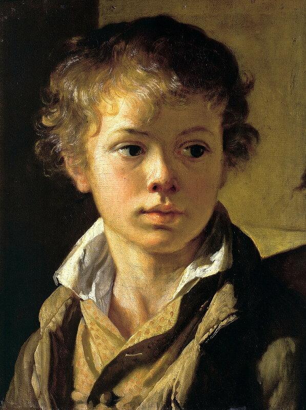 Портрет А.В.Тропинина, сына художника. Около 1818.jpg