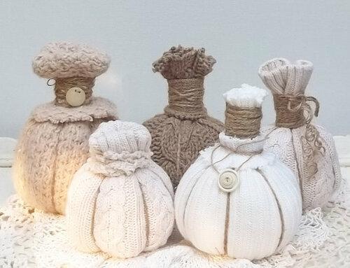 Винтажные тыквы из ткани на Хэллоуин своими руками