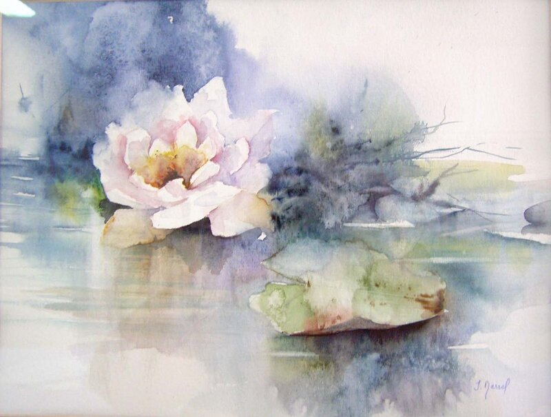 Картинки цветы нарисованные акварелью 8