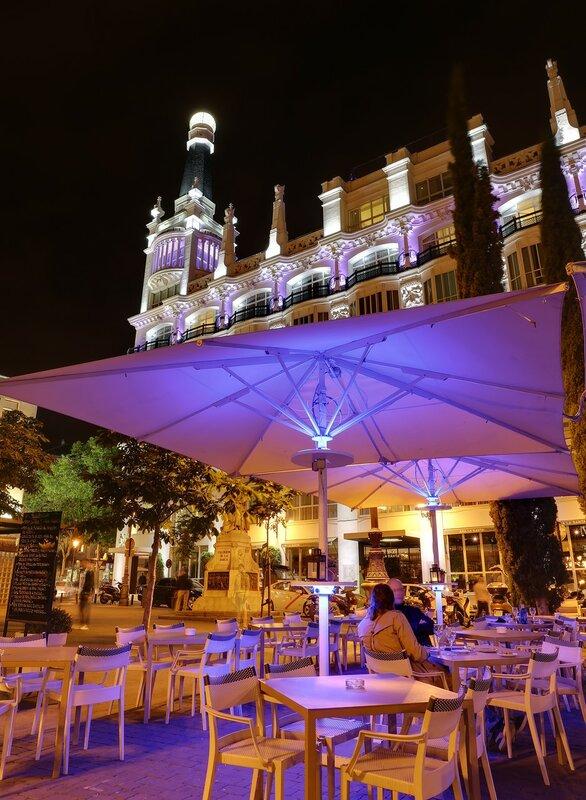 Ночной Мадрид. Площадь Санта-Ана (Plaza Santa Ana)