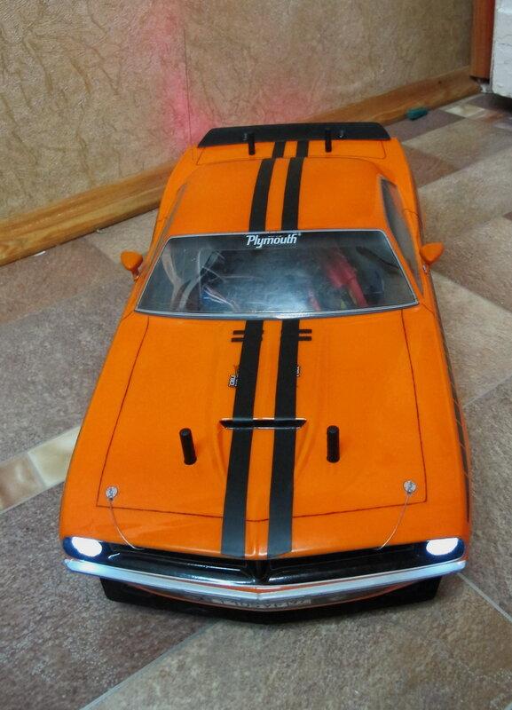 Плимут Куда 1970 оранжевая