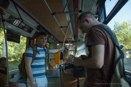 В пражском трамвайчике