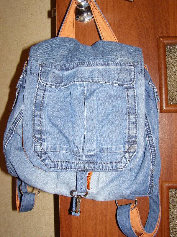 Рюкзак с джинсов своими руками