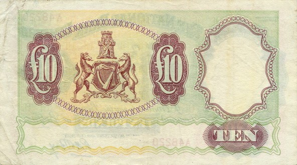 Северная Ирландия, 10 фунтов, 1959