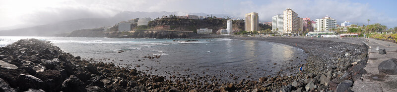 Вид на набережную Пуэрто де ла Крус, Тенерифе