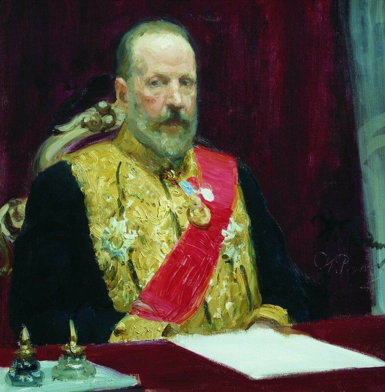 Repin.  Portrait of Finance Minister and member of State Council Sergei Yulyevich Witte.1903 Count  Sergius Witte