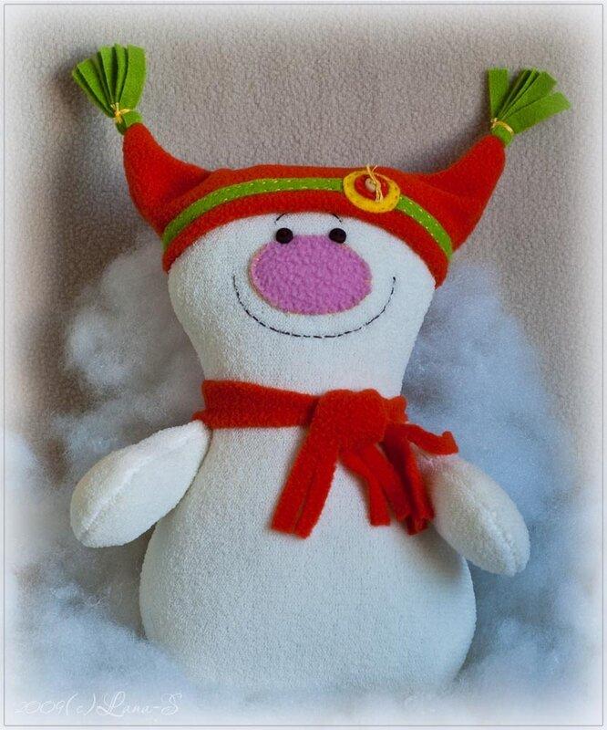 Новогодняя игрушка снеговика своими руками на конкурс