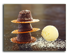 Мальдивы. Viceroy Maldives 5*. Maldivian Chocolate Moelleux & Vanilla Ice Cream