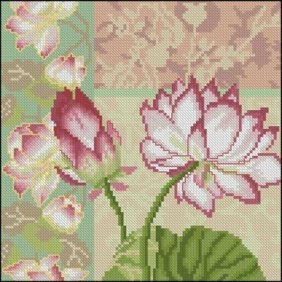 Описание: Схема для вышивки крестом - Lanarte 35044 Composition of Lotus Flowers в формате xsd.  Разместил(а) .