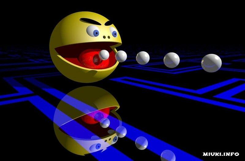 Пакмен - знаменитый персонаж японской компьютерной игры в современном искусстве