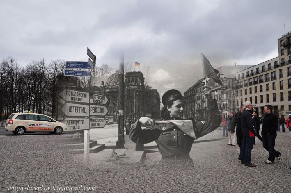 16 Берлин 1945-2010. Регулировщица у Рейхстага..jpg