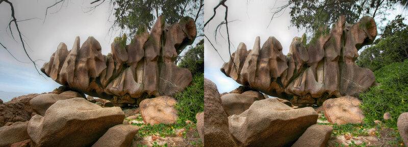 Камни Ла Диг Стереопара, перекрёстная стереопара, 3D, X3D, стерео фото, crossstereopairs, stereo photo, stereoview