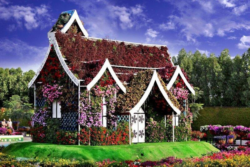 Самый большой цветочный сад в мире: Dubai Miracle Garden