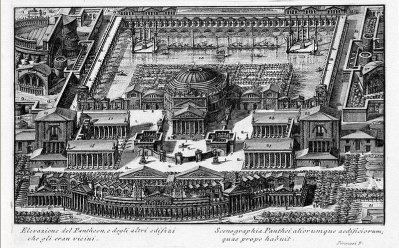 Пиранези. Пантеон. Архитектурная реконструкция.