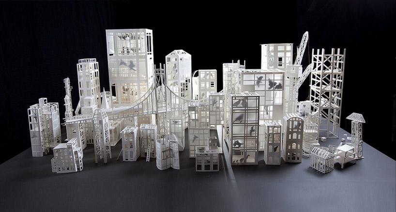 Бумажный город своими руками