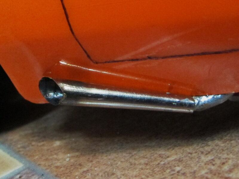 Plymouth Cuda 1/10 выхлоп