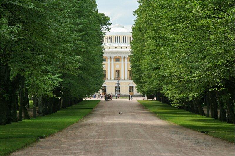 Тройная Липовая аллея и Павловский дворец