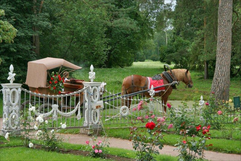 Павловский парк, Карета у Розового павильона