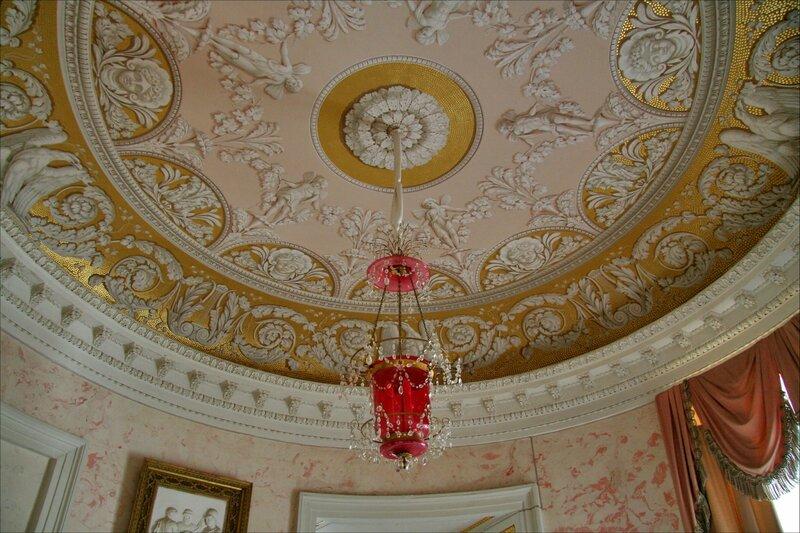 Павловский дворец, Второй проходной кабинет, потолок