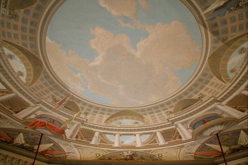 Павловский дворец, Тронный зал, потолок