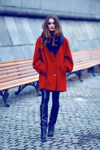 частные фото девушек в пальто