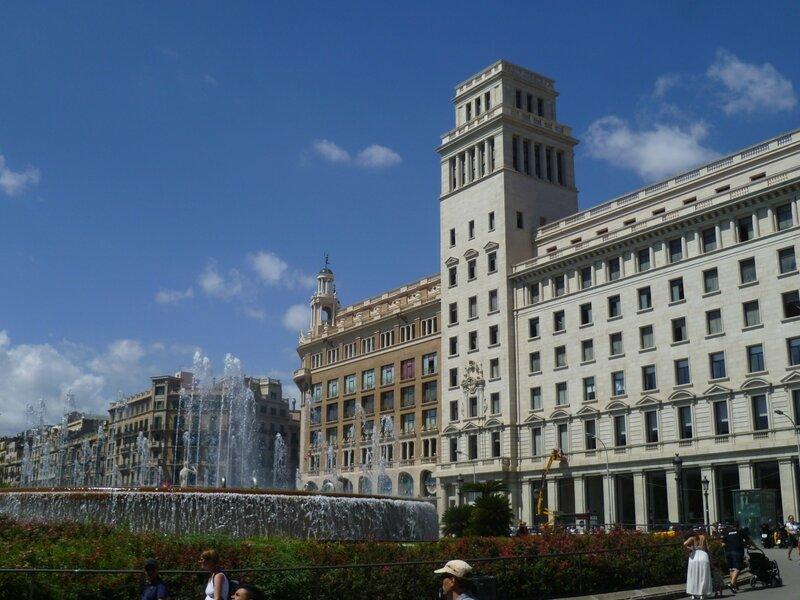 Барселона, площадь Каталонии (Barcelona, Plaza Catalunya)