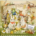 Vintage Easter Indigo Design