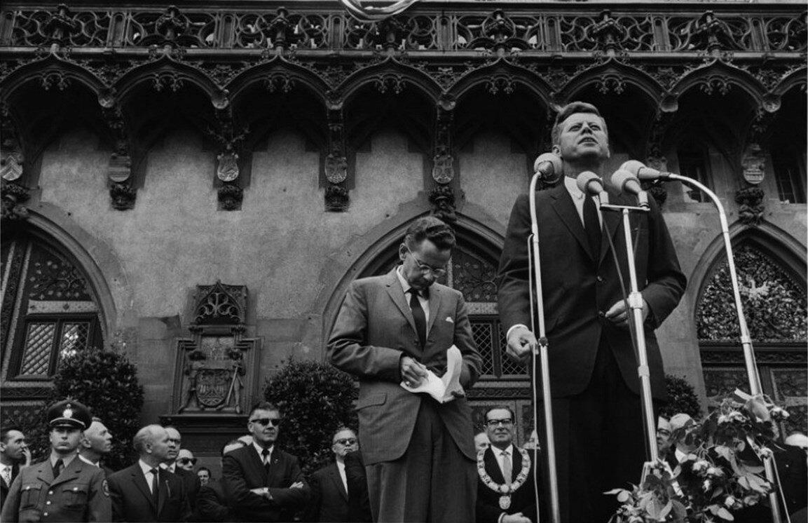 25 июня 1963. Франкфурт. Выступление президента
