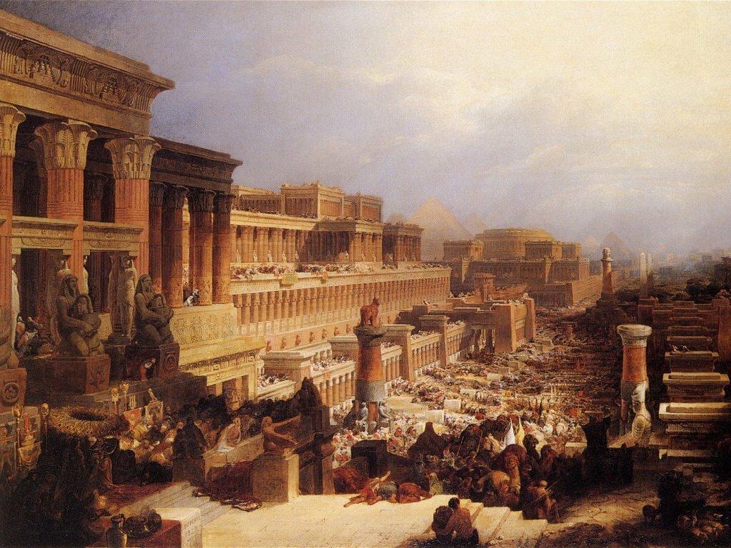 Departure of the Israelites, 1829 1828 by David Roberts