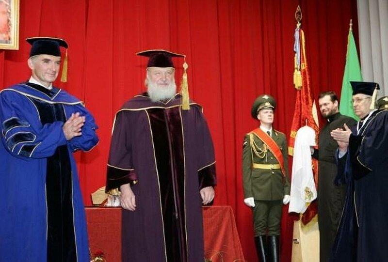 Патриарх Кирилл стал почётным д.н. в Мифи и освятил домовой храм при институте ,4 марта, 2010 года