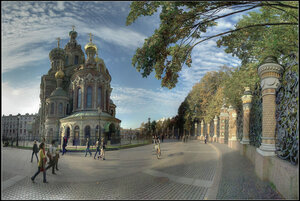 Cанкт-Петербург. Октябрь 2012 года. Панорама из 26 кадров.