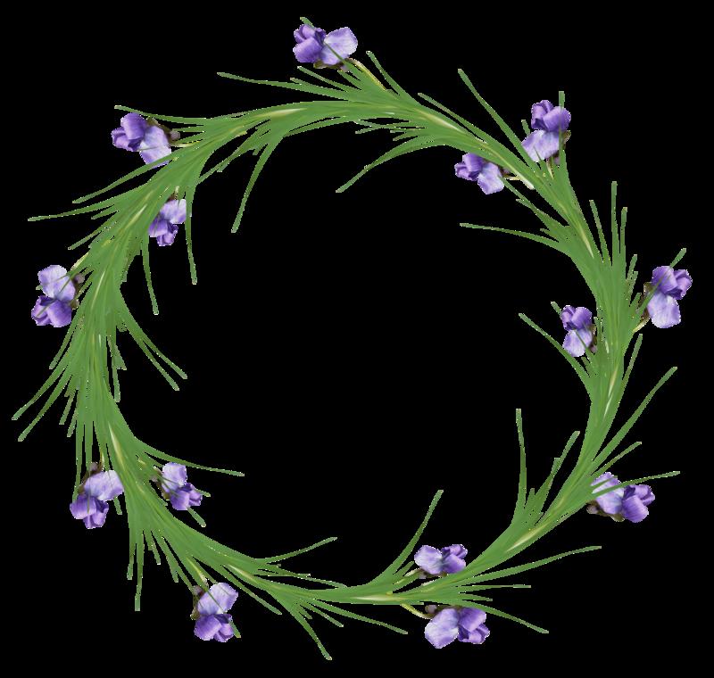Tube cadre rond en fleurs - Cadre photo rond ...
