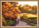Набор для вышивания Осенний этюд, Золотое руно З-004 купить в санкт петербурге Шале, Aida 14, Счетный крест.