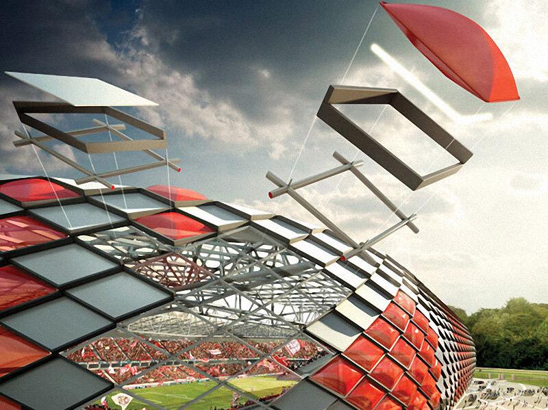 Стадион «Спартак»: Спартаковский ромб, кольчуга и купола (Фото)
