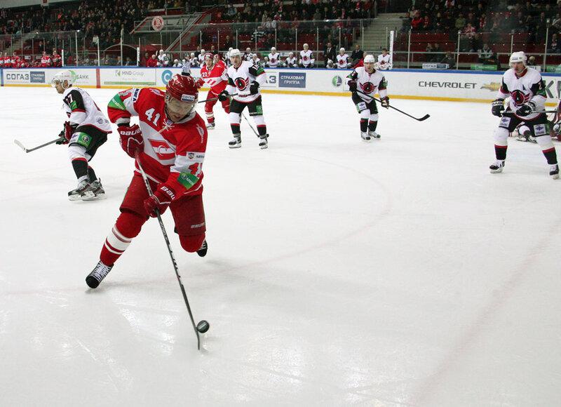«Спартак» vs «Автомобилист» 6:1 чемпионат КХЛ 2012-2013 (Фото)