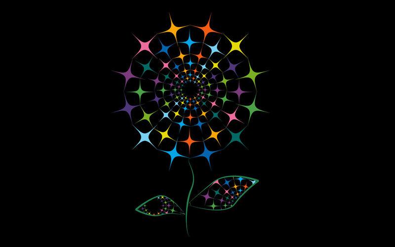 Картинки сверкающие цветы 8