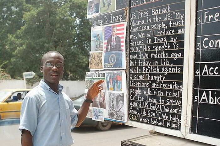 Африканский блоггер-тысячник