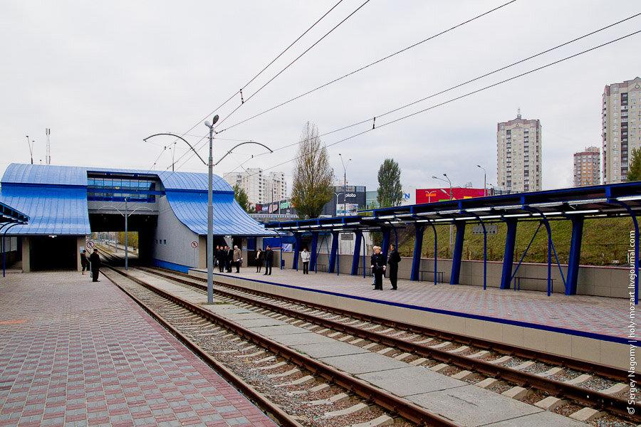Вторая линия скоростного трамвая в Киеве открыта