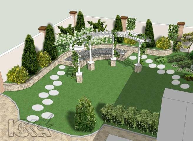 Дизайн ландшафта двора фото