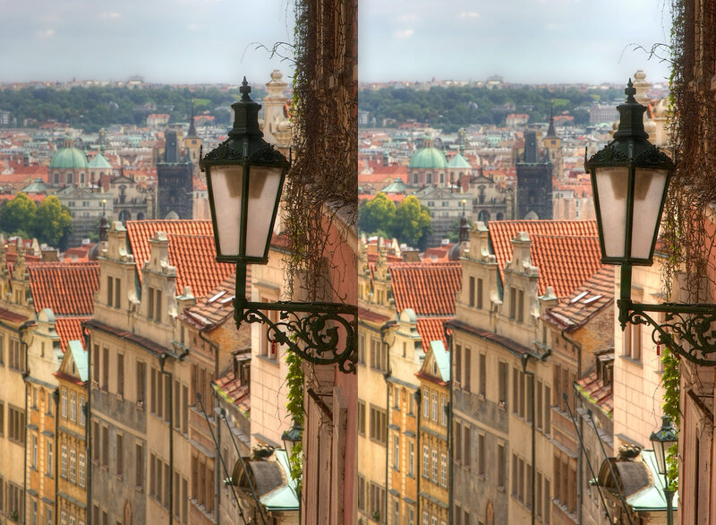 Прага Стереопара, перекрёстная стереопара, 3D, X3D, стерео фото, crossstereopairs, stereo photo, stereoview