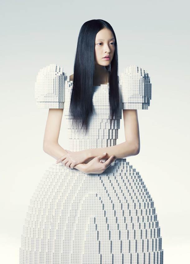 LEGO Wedding Dress - by Japanese artist Rie Hosokai