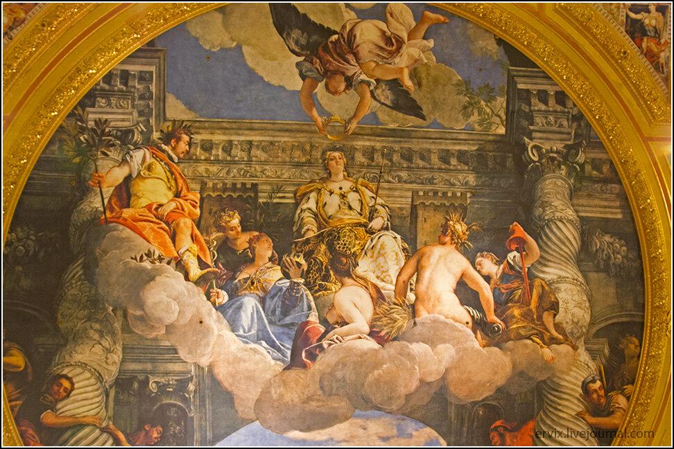 Роспись потолка в Венеции