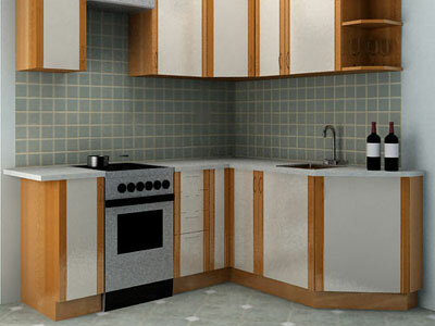Интерьер кухонной зоны.