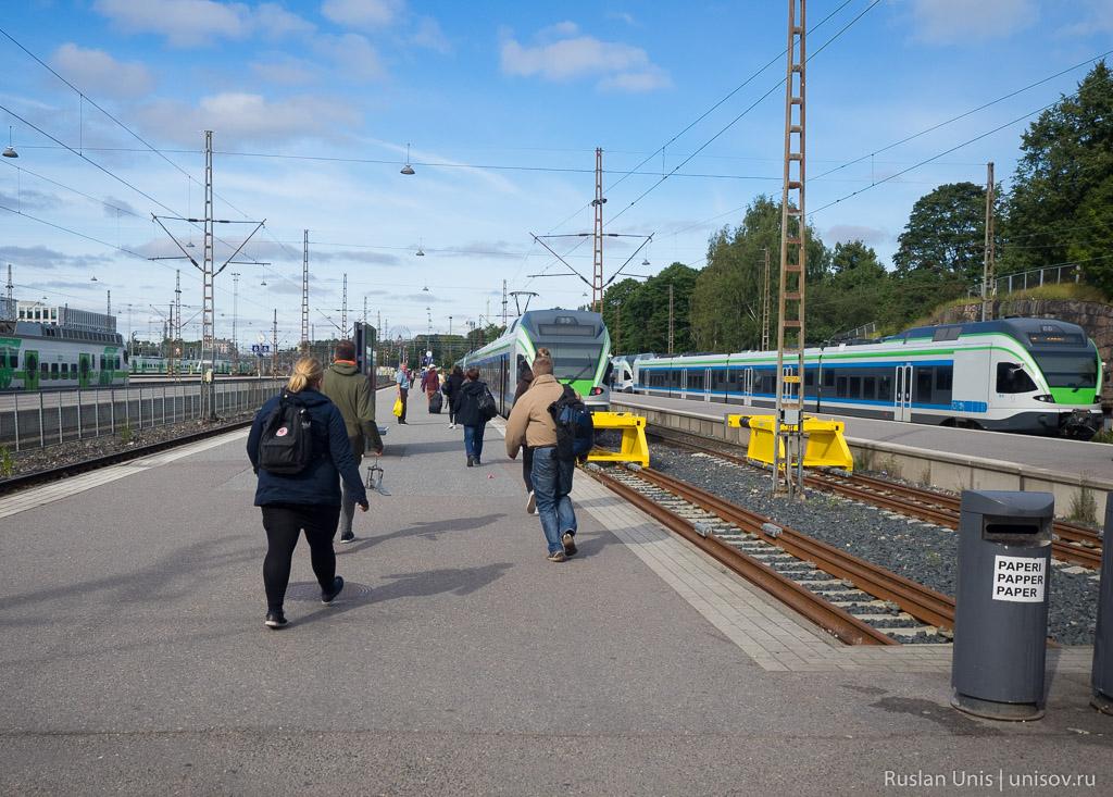 Поезд из Хельсинки в аэропорт