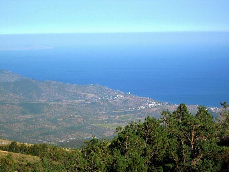 Вид на море с Демерджи