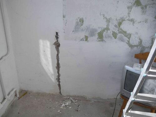 Фото 4. Участок электроустановки квартиры, где при проведении ремонтных работ произошло короткое замыкание.