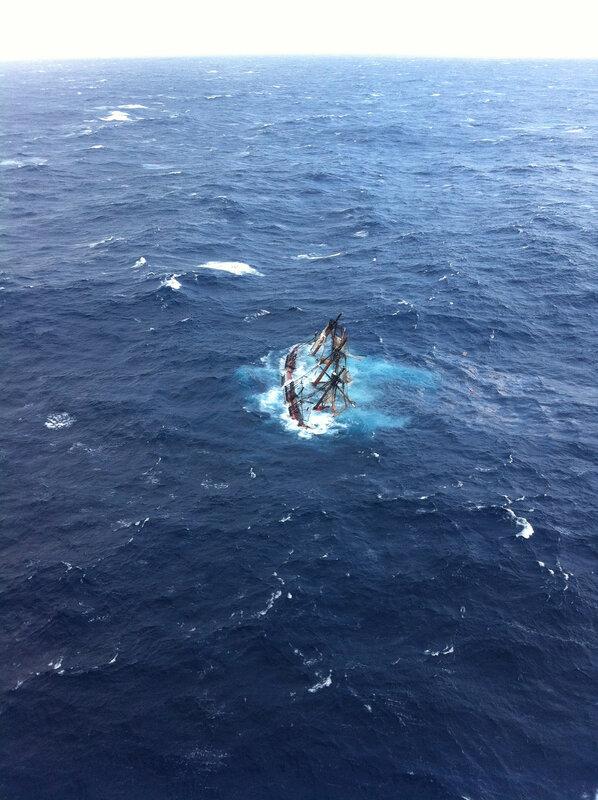 121029-G-ZZ999-001 - Coast Guard rescues crewmembers aboard HMS Bounty
