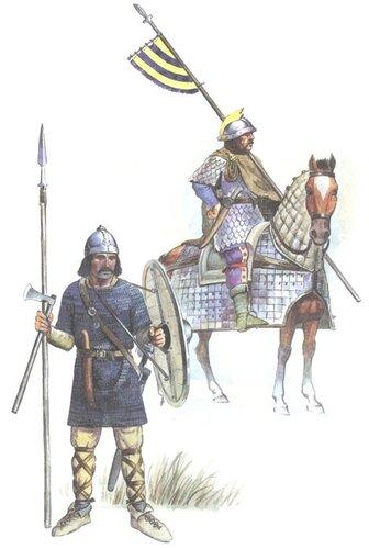Франкские воины.