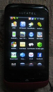 Вид меню на моем телефоне